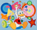 Animation Art:Production Drawing, Donald Duck Wonderful World of Disney