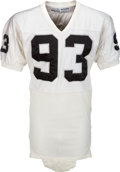 Football Collectibles:Uniforms, Mid 1980's Greg Townsend Game Worn Los Angeles Raiders Jersey....