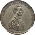 """Political:Tokens & Medals, Abraham Lincoln: Popular """"Rail Splitter of the West"""" Medal...."""