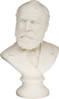 Political:3D & Other Display (pre-1896), James A. Garfield: Parian Bust....