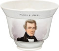 Political:3D & Other Display (pre-1896), James K. Polk: Presidential Hand-Painted Teacup....