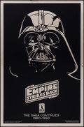 "Movie Posters:Science Fiction, The Empire Strikes Back (20th Century Fox, R-1990). 10thAnniversary Gold Mylar One Sheet (27"" X 41"") SS Advance, DaynaSted..."