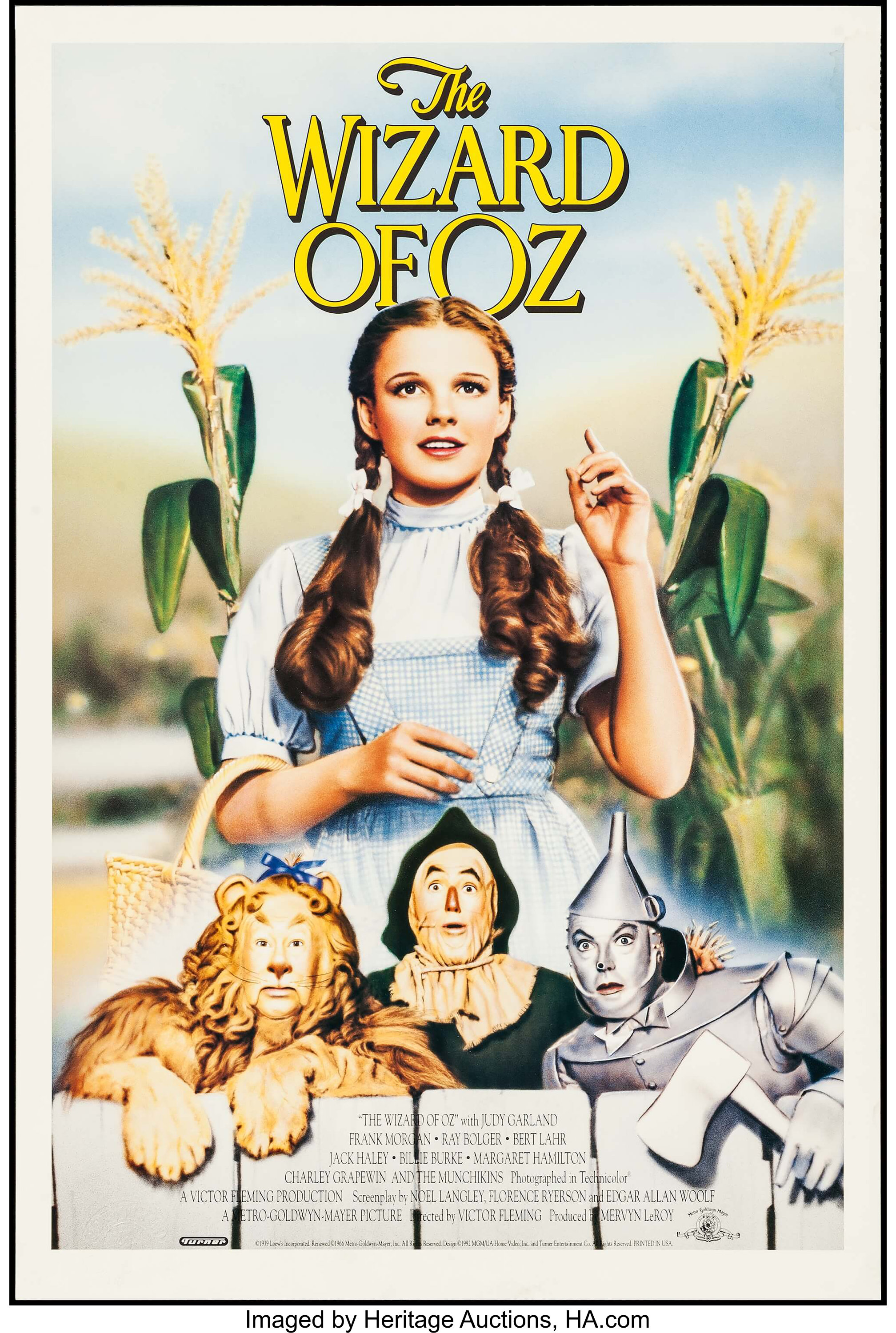 "The Wizard of Oz (MGM, R-1992). Video Poster (24"" X 36""). Fantasy ..."