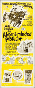 """Movie Posters:Comedy, The Absent-Minded Professor (Buena Vista, 1961). Rolled, Fine/Very Fine. Insert (14"""" X 36""""). Paul Wenzel Artwork. Comedy.. ..."""
