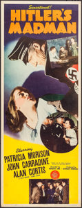 "Movie Posters:War, Hitler's Madman (MGM, 1943). Insert (14"" X 36""). War.. ..."