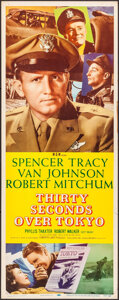 """Movie Posters:War, Thirty Seconds Over Tokyo (MGM, R-1955). Insert (14"""" X 36""""). War....."""