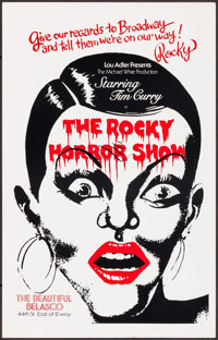 """The Rocky Horror Show (Belasco Theater, 1975). Theater Window Card (14"""" X 22""""). Rock and Roll"""