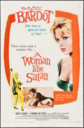 "Movie Posters:Bad Girl, A Woman Like Satan (Lopert, 1959). One Sheet (27"" X 41""). Bad Girl.. ..."