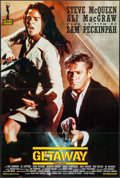 """Movie Posters:Action, The Getaway (Action Gitanes, R-1990s). French Half Grande (30.75"""" X46.5""""). Action.. ..."""