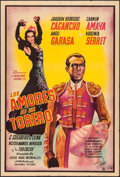 "Movie Posters:Foreign, Los amores de un torero (Columbia, 1946). Argentinean One Sheet (29"" X 43.5""). Foreign.. ..."