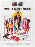 """Movie Posters:James Bond, Live and Let Die (United Artists, R-1980s). Folded, Very Fine+. French Moyenne (23.75"""" X 31"""") Robert McGinnis Artwork..."""