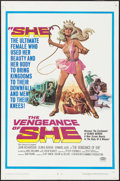 "Movie Posters:Fantasy, The Vengeance of She (20th Century Fox, 1968). One Sheet (27"" X41"") Gerard Allison Artwork. Fantasy.. ..."