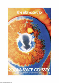 "2001: A Space Odyssey (MGM, 1968). One Sheet (27"" X 41""). When MGM decided to revamp the advertising campaign..."
