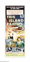 "Movie Posters:Science Fiction, This Island Earth (Universal, 1955). Insert (14"" X 36""). Aliensfrom the planet Metaluna recruit engineers and scientists fr..."