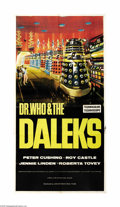"Movie Posters:Science Fiction, Dr. Who and the Daleks (Lion International Films, 1965). ThreeSheet (41"" X 81"")."" Doctor Who,"" produced for 26 seasons by t..."