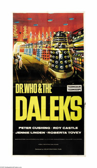 """Dr. Who and the Daleks (Lion International Films, 1965). Three Sheet (41"""" X 81"""")."""" Doctor Who,"""" prod..."""
