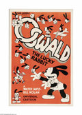 "Movie Posters:Animated, Oswald the Lucky Rabbit (Universal, 1934). One Sheet (27"" X 41"").In the early 1930s, Walt Disney was transitioning from a p..."