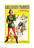 """Movie Posters:Animated, Gulliver's Travels (Paramount, 1936). One Sheet (27"""" X 41"""") Style A. Animators Dave and Max Fleischer made this, their first..."""