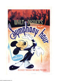 "Movie Posters:Animated, Symphony Hour (RKO, 1942). One Sheet (27"" X 41""). Mickey Mouse, Donald Duck and Goofy all star in this Walt Disney cartoon a..."
