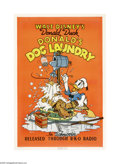 "Movie Posters:Animated, Donald's Dog Laundry (RKO, 1940). One Sheet (27"" X 41""). DonaldDuck invents an automatic dog washer, but when he tries Plut..."
