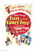"Movie Posters:Animated, Fun and Fancy Free (RKO, 1947). One Sheet (27"" X 41""). A blend oflive-action and animation go into this Disney production t..."