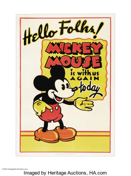 4db8c1410 Mickey Mouse Stock Poster (Columbia, 1932). One Sheet (27