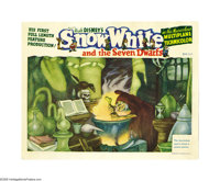 "Snow White and the Seven Dwarfs (RKO, 1937). Lobby Card (11"" X 14""). Historical reports tell of Walt offering..."