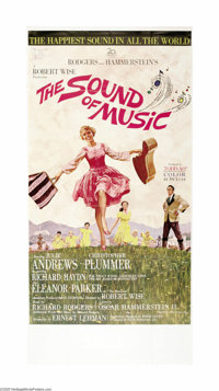 "The Sound Of Music (20th Century Fox, 1965). Three Sheet (41"" X 81""). Sister Maria, a novice at an Austrian co..."
