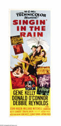 "Movie Posters:Musical, Singin' in the Rain (MGM, 1952). Insert (14"" X 36""). The greatmaster of cinema dance, Gene Kelly, along with Stanley Donen ..."