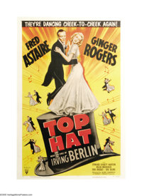 """Top Hat (RKO, R-1953). One Sheet (27"""" X 41""""). The musical teaming of Fred Astaire and Ginger Rogers in """"F..."""