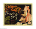 "Movie Posters:Musical, Dancing Lady (MGM, 1933). Title Lobby Card (11"" X 14""). Clark Gableand Joan Crawford were teamed for the fourth time in thi..."