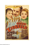 """Movie Posters:Musical, The Great Ziegfeld (MGM, 1936). Midget Window Card (8"""" X 11.5"""") andProgram (Multiple Pages). MGM spent a huge amount of mon... (2items)"""