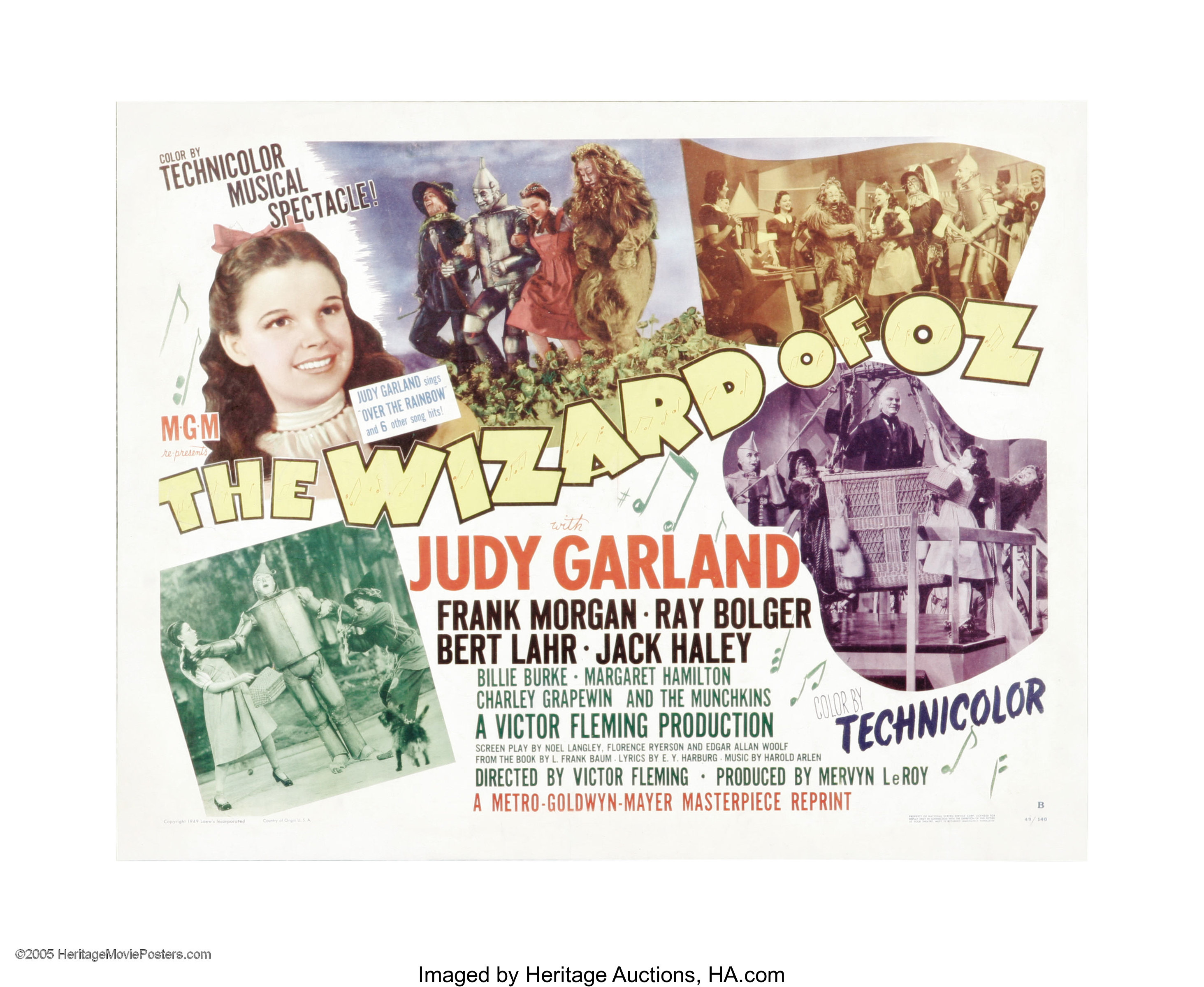 The Wizard Of Oz Mgm R 1949 Half Sheet 22 X 28 Style B Lot 28067 Heritage Auctions