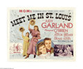 "Movie Posters:Musical, Meet Me in St. Louis (MGM, 1944). Half Sheet (22"" X 28""). Memorablesongs from this classic Judy Garland movie musical inclu..."