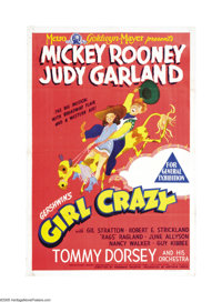 "Girl Crazy (MGM, 1943). Australian One Sheet (27"" X 40""). This is the film version of the George & Ira Ger..."