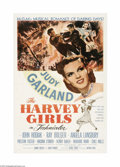 "Movie Posters:Western, The Harvey Girls (MGM, 1946). One Sheet (27"" X 41""). This MGMmusical stars Judy Garland as a 19th century mail-order bride ..."
