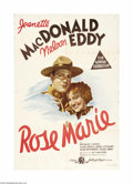 "Movie Posters:Musical, Rose Marie (MGM, 1936). Australian One Sheet (27"" X 40""). W.S. Van Dyke (""The Thin Man"") directed the eternal couple, Nelso..."