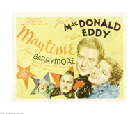 "Maytime (MGM, 1937). Half Sheet (22"" X 28""). Nelson Eddy and Jeanette MacDonald star in this popular romance m..."
