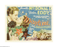 "Maytime (MGM, 1937). Half Sheet (22"" X 28""). This was the third of the successful Jeanette MacDonald/Nelson Ed..."