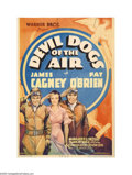 "Movie Posters:War, Devil Dogs of the Air (Warner Brothers, 1935). Midget Window Card(8"" X 11.5""). Adapted from a novel by John Monk Saunders, ..."