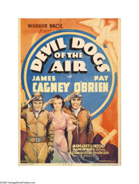 """Devil Dogs of the Air (Warner Brothers, 1935). Midget Window Card (8"""" X 11.5""""). Adapted from a novel by John M..."""