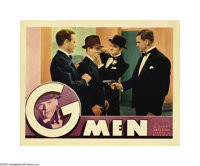 """G-Men (Warner Brothers - First National, 1935). Lobby Cards (2) (11"""" X 14""""). """"Brick"""" Davis (Cagney)..."""