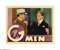 "Movie Posters:Crime, G-Men (Warner Brothers, 1935). Lobby Cards (2) (11"" X 14"").Tough-guy Cagney struts his stuff as Government Agent Davis. The...(2 items)"