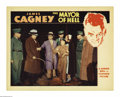 "Movie Posters:Crime, Mayor of Hell (Warner Brothers, 1933). Lobby Card (11"" X 14""). Wesee reformer Cagney stopping a callous and corrupt Warden ..."