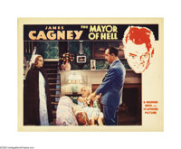 "Mayor of Hell (Warner Brothers, 1933). Lobby Cards (2) (11"" X 14""). Both the scene cards from this early Cagne..."