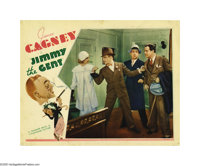 """Jimmy the Gent (Warner Brothers, 1934). Lobby Card (11"""" X 14""""). A shady investigator of lost heirs, James Cagn..."""