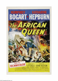 """The African Queen (United Artists, 1952). One Sheet (27"""" X 41""""). Bogart won an Oscar for his portrayal of the..."""