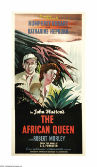 "The African Queen (United Artists, 1952). British Three Sheet (40"" X 77""). Katharine Hepburn and Humphrey Boga..."
