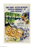 "Movie Posters:Action, Gunga Din (RKO, R-1942). One Sheet (27"" X 41""). Loosely based on aRudyard Kipling poem, the tale of three brawling British ..."
