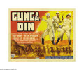 "Movie Posters:Action, Gunga Din (RKO, 1939). Title Lobby Card (11"" X 14""). This was thebreakout film for George Stevens, who directed this rousin..."